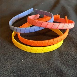 Other - 4 Little Girl Ribbon Headband Set